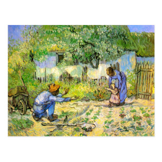 First Steps (after Millet) Van Gogh Fine Art Postcard