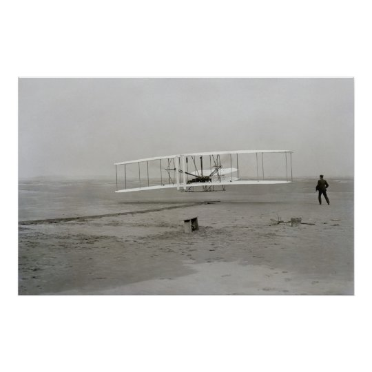 First successful flight of the Wright Flyer Poster