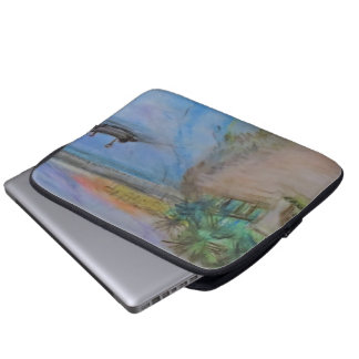 First Sunset in Playa Laptop Sleeve