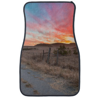 First Sunset of the Day Car Mat