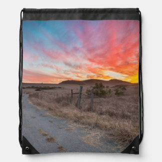 First Sunset of the Day Drawstring Bag