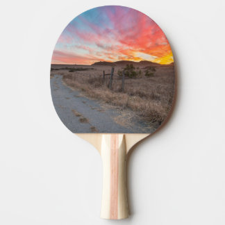 First Sunset of the Day Ping Pong Paddle
