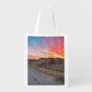 First Sunset of the Day Reusable Grocery Bag
