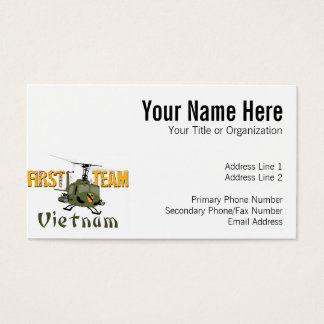 First Team Vietnam Gunship Business Card