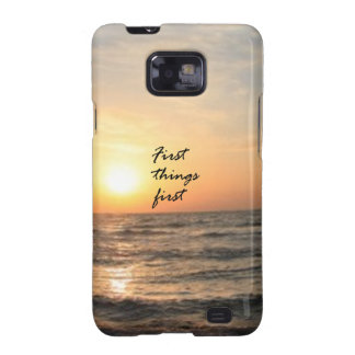 First Things First Samsung Galaxy S2 Case