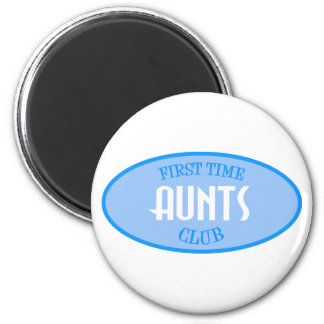 First Time Aunts Club (Blue) Magnet