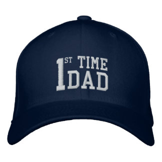 First Time Dad embroidered hat