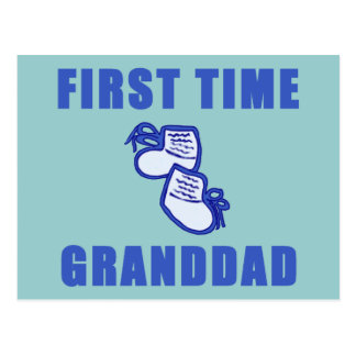 First Time Granddad Tshirts and Gifts Postcard