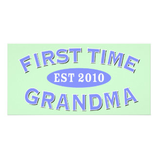 First Time Grandma 2010 Personalised Photo Card