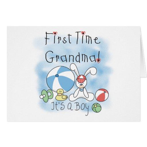 First Time Grandma Baby Boy Cards