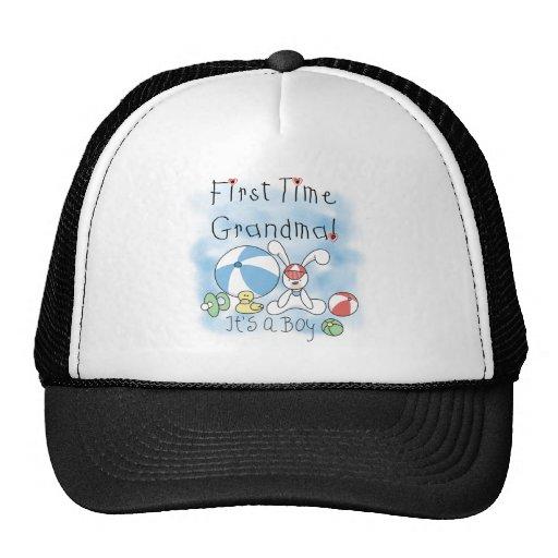 First Time Grandma Baby Boy Trucker Hat