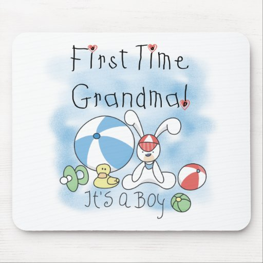 First Time Grandma Baby Boy Mouse Pad