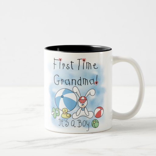 First Time Grandma Baby Boy Mugs