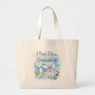 First Time Grandma Baby Boy Tote Bags