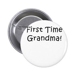 First Time Grandma 6 Cm Round Badge