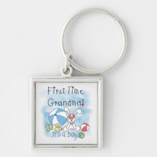First Time Grandma of Boy Gifts Keychain