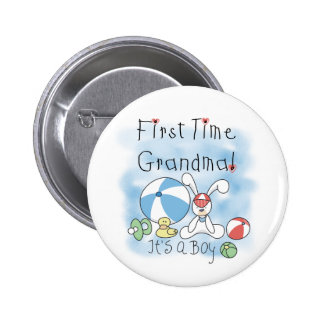 First Time Grandma of Boy Tshirts and Gifts Pins