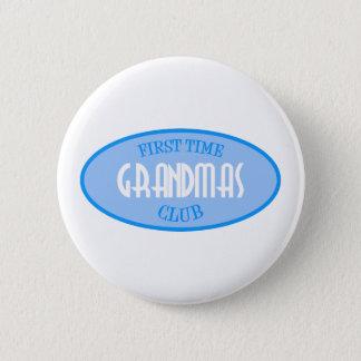 First Time Grandmas Club (Blue) 6 Cm Round Badge