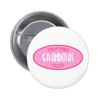 First Time Grandmas Club (Pink) Pinback Buttons
