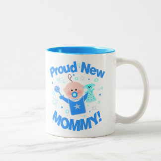 First Time Mom of Baby Boy Coffee Mug