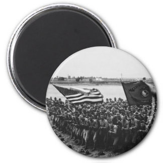 First to Fight United States Marine Corps 1918 6 Cm Round Magnet