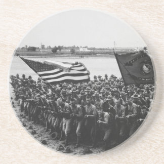First to Fight United States Marine Corps 1918 Drink Coasters