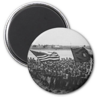 First to Fight - US Marines - 1918 6 Cm Round Magnet