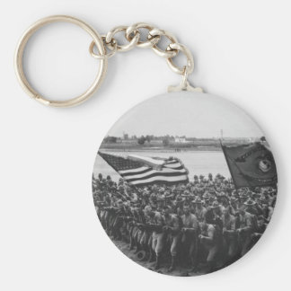 First to Fight - US Marines - 1918 Basic Round Button Key Ring