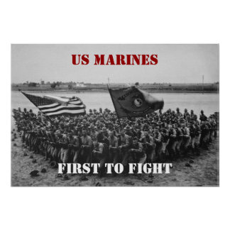 First to Fight - US Marines - 1918 Poster