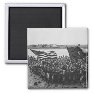 First to Fight - US Marines - 1918 Square Magnet