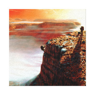 First Trip To Mars Stretched Canvas Print
