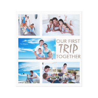 First Trip Together Photo Collage Canvas Print