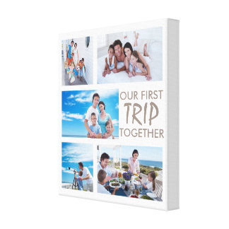 First Trip Together Photo Collage Canvas Canvas Print