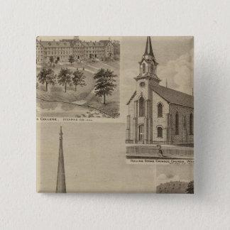 First Universalisty Church, Minneapolis, Minnesota 15 Cm Square Badge
