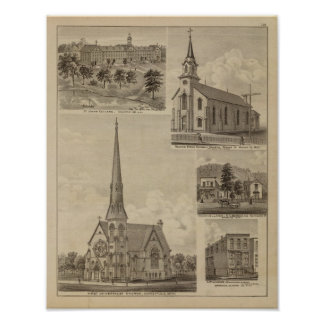 First Universalisty Church, Minneapolis, Minnesota Poster