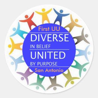 First UU Diversity stickers