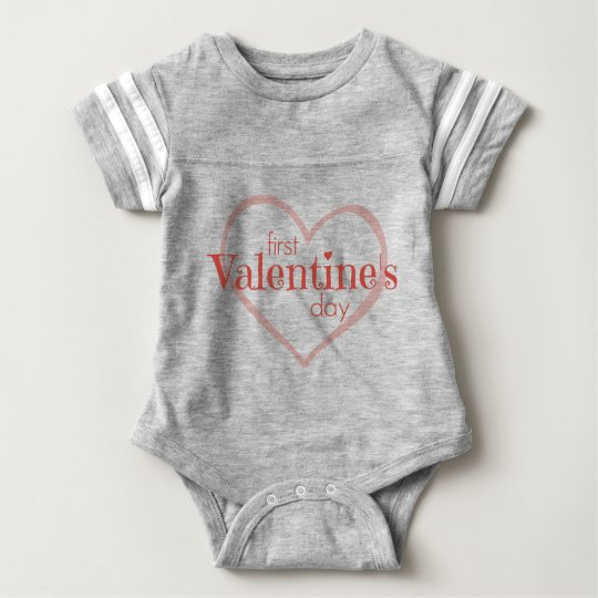 First Valentine's Day Baby Bodysuit