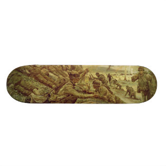 First Wave at Omaha by Ken Riley World War II 19.7 Cm Skateboard Deck