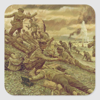 First Wave at Omaha by Ken Riley World War II Stickers