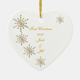 First Wedded Christmas Ornament