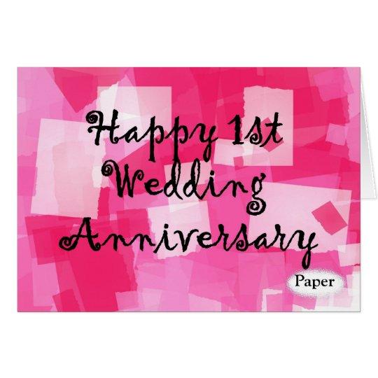 First wedding anniversary card zazzle