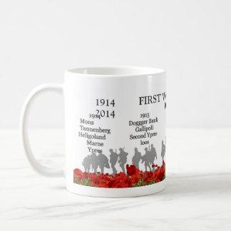 First World War centenary Basic White Mug