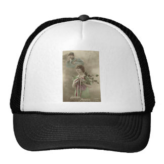 First World War images, People Mesh Hats