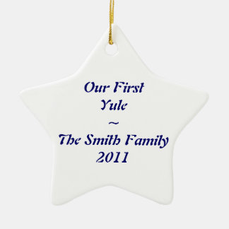 """First Yule"" ornament"