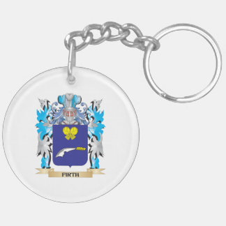 Firth Coat of Arms - Family Crest Double-Sided Round Acrylic Key Ring