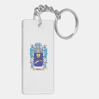 Firth Coat of Arms - Family Crest Double-Sided Rectangular Acrylic Key Ring