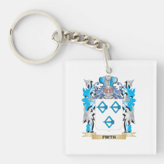 Firth Coat of Arms - Family Crest Single-Sided Square Acrylic Key Ring