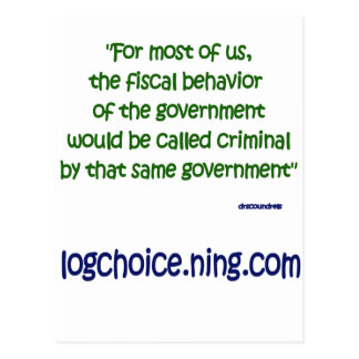 Fiscal behavior postcard