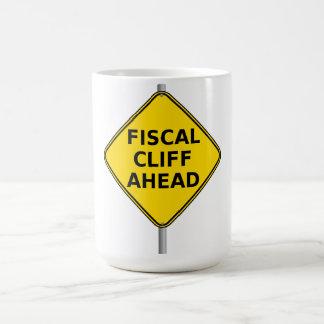 Fiscal Cliff Ahead Classic White Coffee Mug