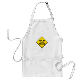 Fiscal Cliff Ahead Sign Adult Apron